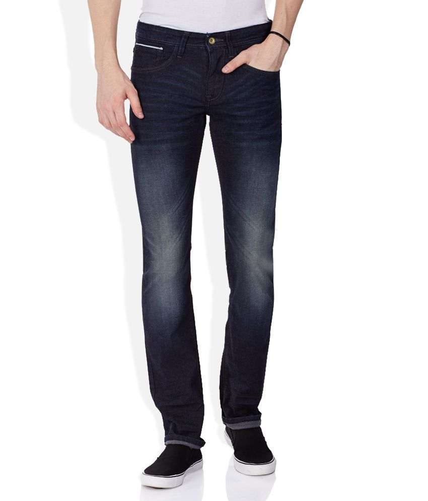 Celio Blue Faded Jeans