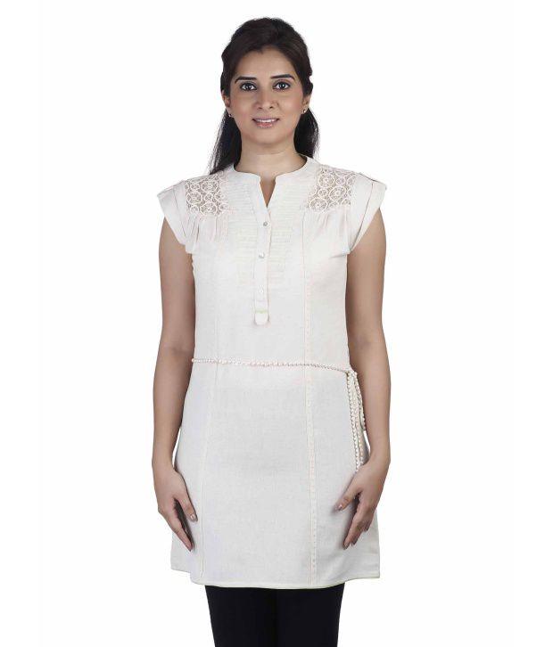 Soie Beige Linen Tunics