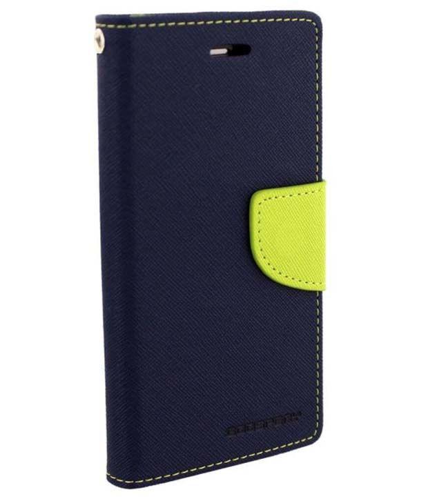 Uni Mobile Care Flip Wallet Cover For Samsung Galaxy Grand Quattro 8552 - Blue