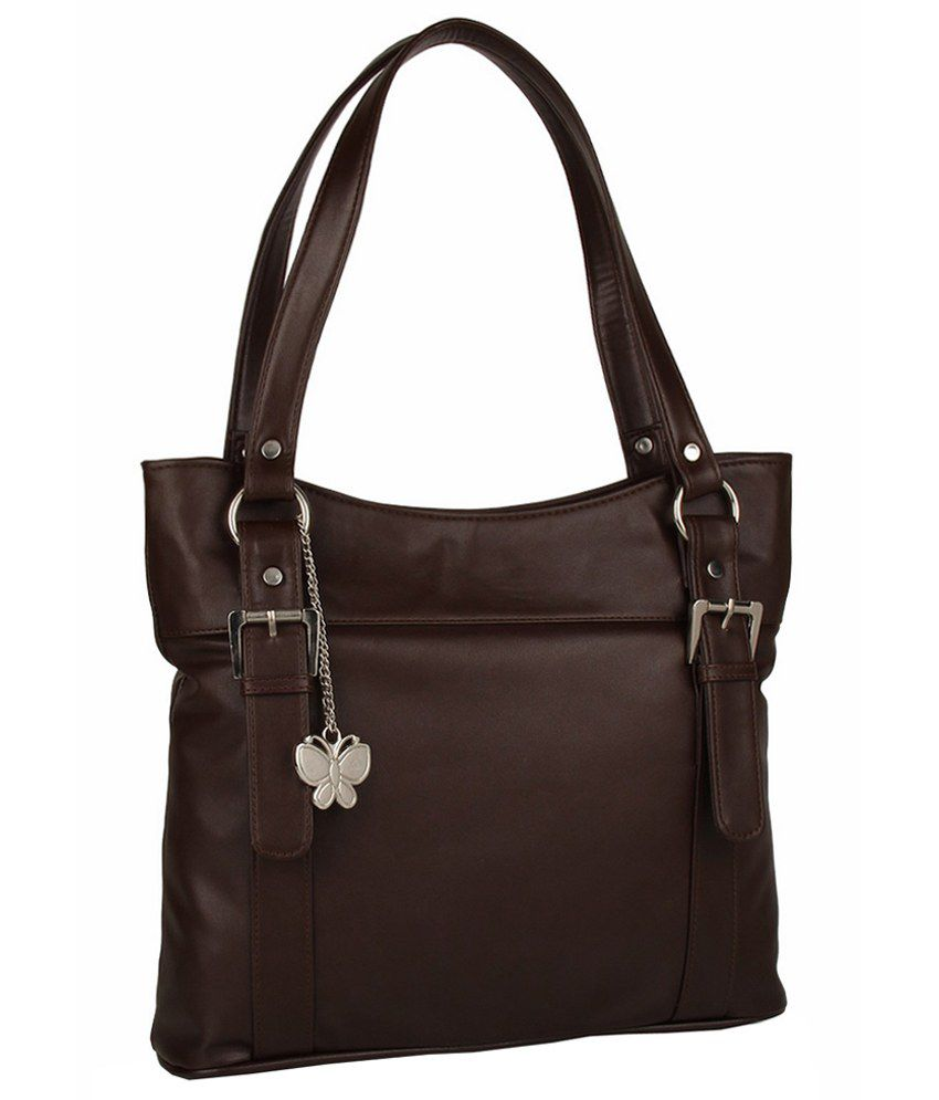 Butterflies Elegant Chocolate Brown Handbag - Buy Butterflies ...