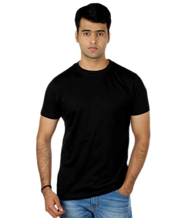 Maclavaro Black Cotton Half Sleeve T-Shirt - Pack Of 2