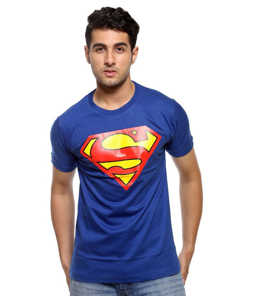 Trendmakerz Blue Superman Tshirt