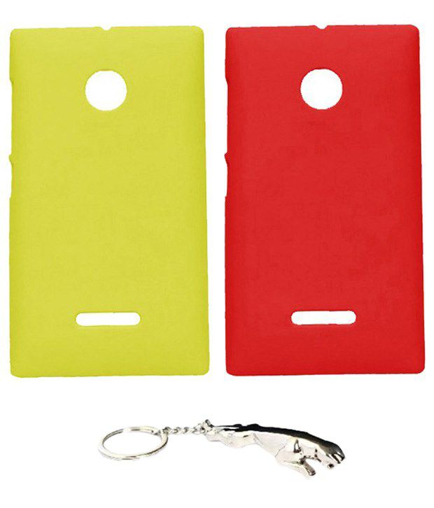 Winsome Deal Appealing Multicolour Combo of Keychain & 2 Nokia Lumia 532 Back Covers
