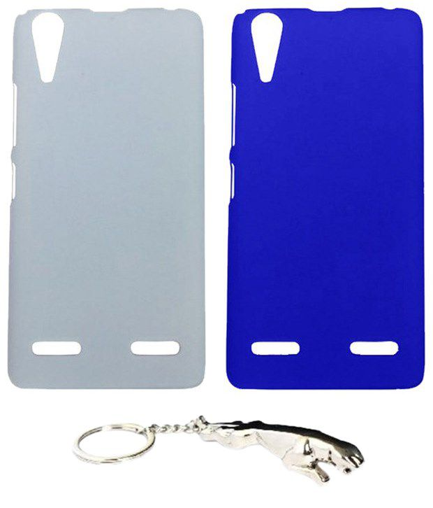 Winsome Deal Attractive Multicolour Combo of Keychain & 2 Lenovo K3 A6000 Back Covers