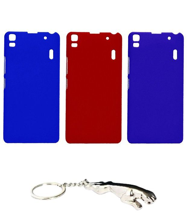 Winsome Deal Multicolour Combo of Keychain & 3 Lenovo A7000 Back Covers