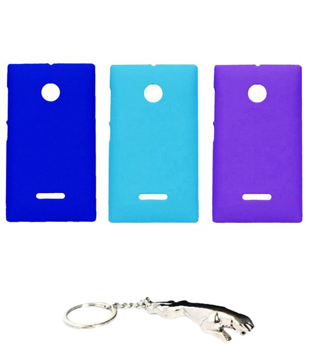 Winsome Deal Multicolour Combo of Keychain & 3 Nokia Lumia 532 Back Covers