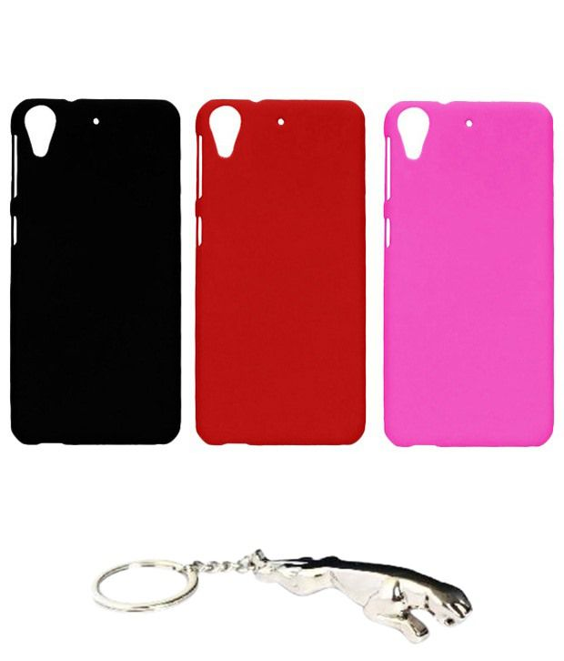 Winsome Deal Precious Multicolour Combo of Keychain & 3 HTC Desire 626 Back Covers