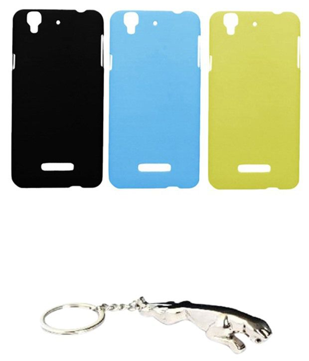Winsome Deal Remarkable Multicolour Combo of Keychain & 3 Micromax Yureka Back Covers