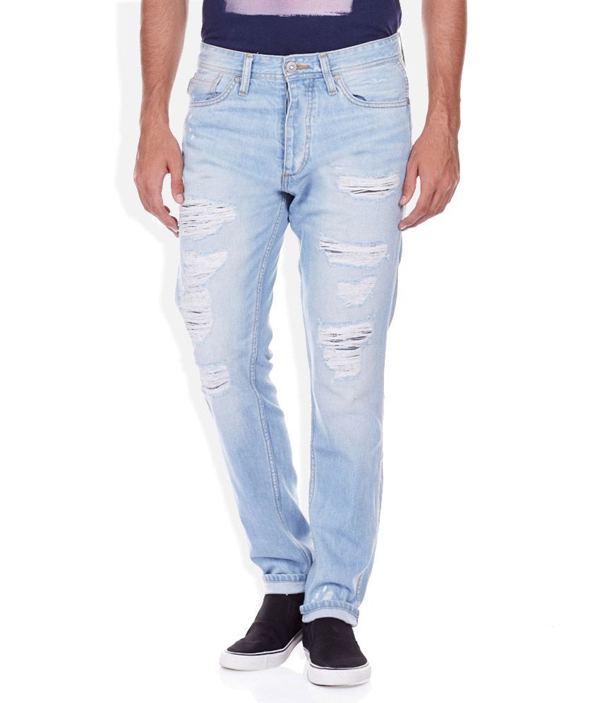 Jack & Jones Blue Faded Jeans