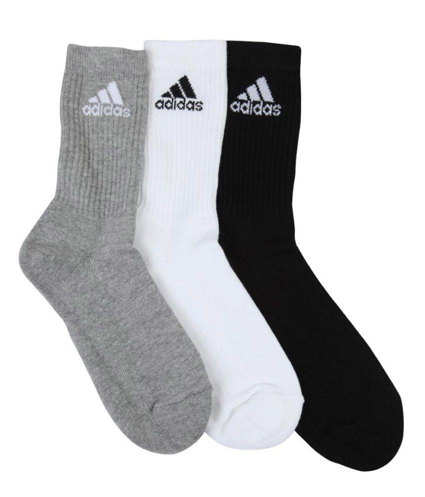 c19a6a94226 Adidas Cotton Full Length Socks - 3 Pair Pack