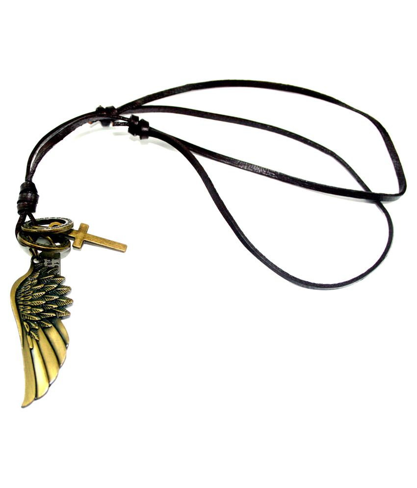 Streetsoul Black Alloy Angel Wing Pendant