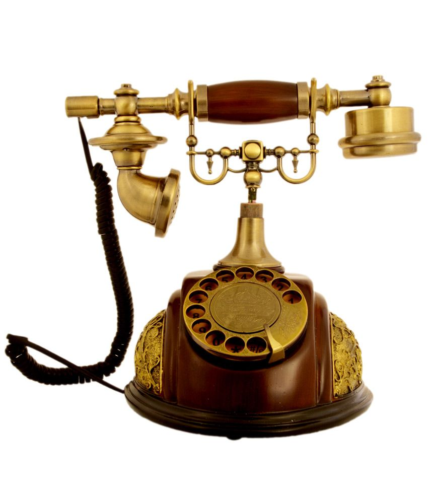 buy home and more small corded landline phone with wooden stand number revolving online at best. Black Bedroom Furniture Sets. Home Design Ideas