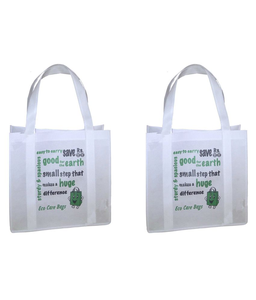 6a5d756fb1c Buy Jayco Non Woven Bags White Shopping Bags - Pack Of 15 at Best Prices in  India - Snapdeal