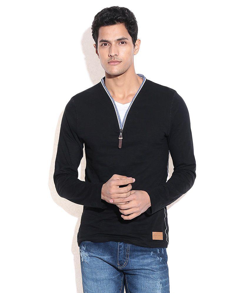 Celio Black Cotton T-shirt