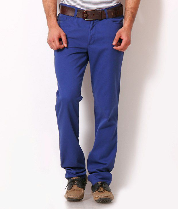 John Players Fashionable Royal Blue Trousers