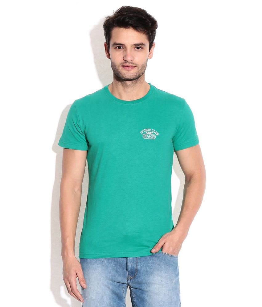 John Players Green Round Neck T Shirt