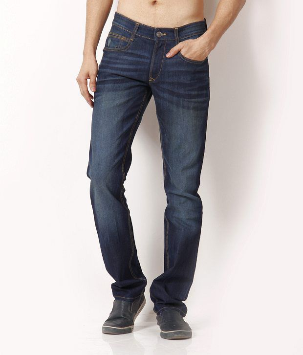 John Players Uptown Blue Faded Jeans