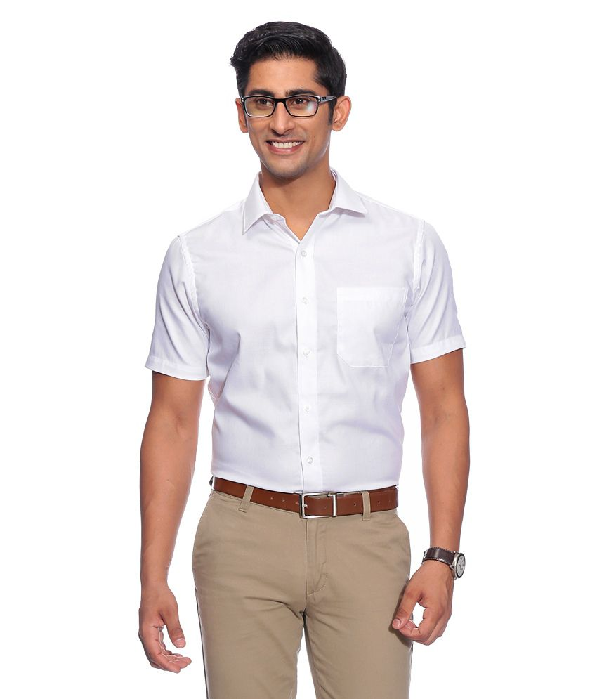 John Players White Formals  Shirt