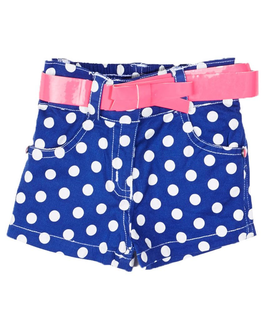 Little Kangaroos Blue Cotton Blend Shorts