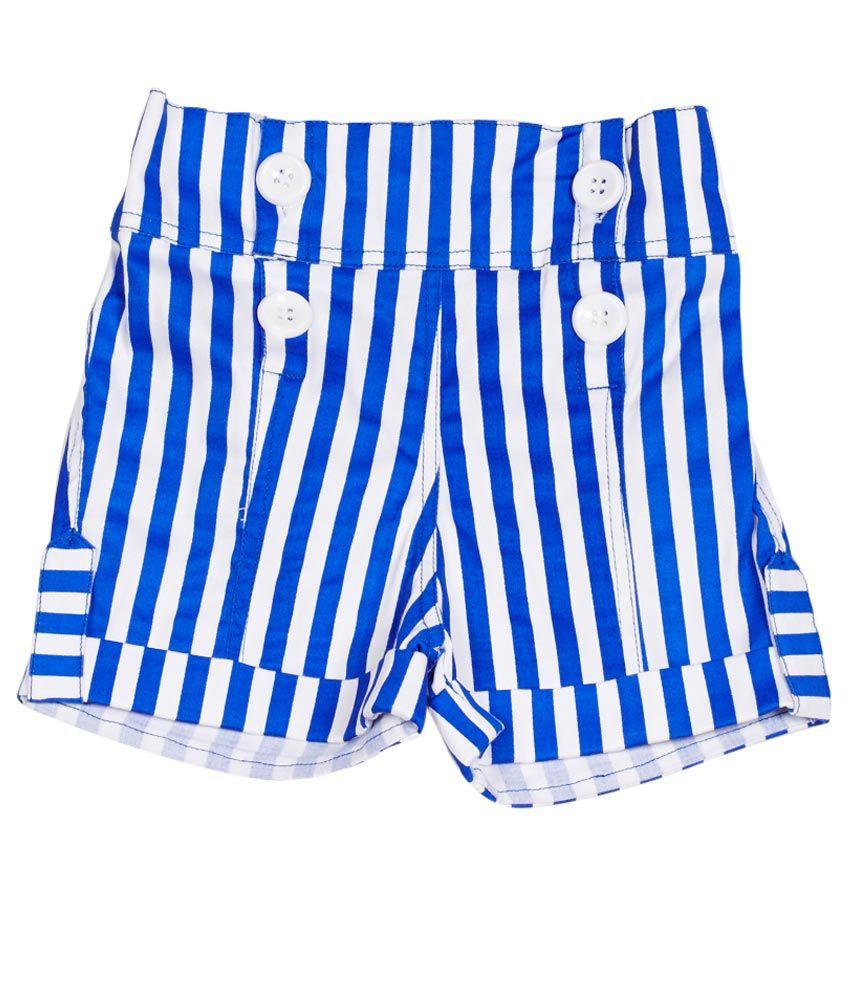 Little Kangaroos Blue Cotton Blend Shorts