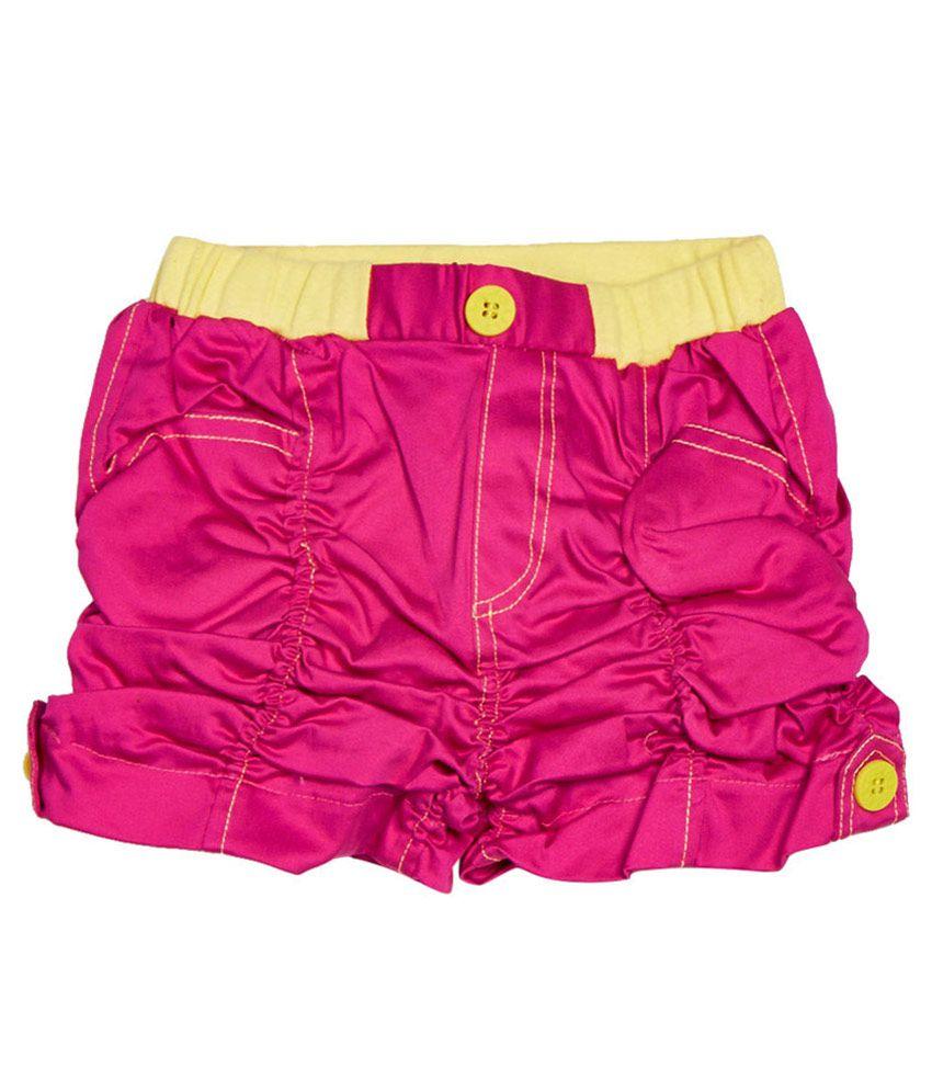 Little Kangaroos Pink Cotton Blend Shorts