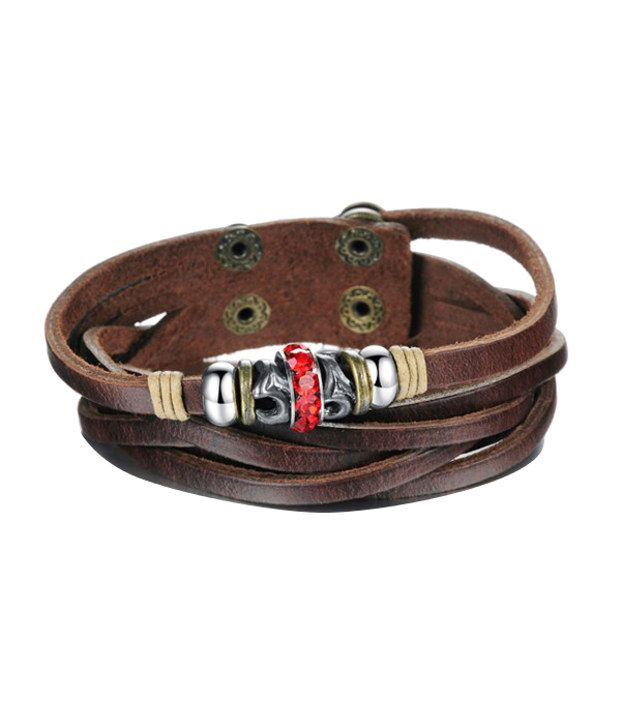 Montague Leather And Stainless Steel Bracelet