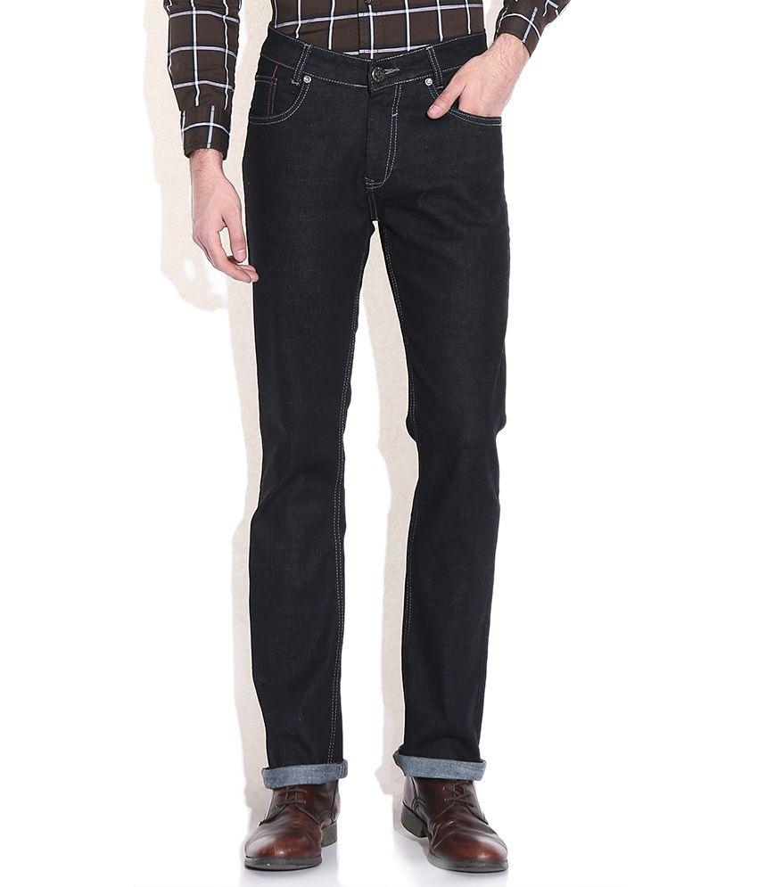 Mufti Black Straight Fit Jeans
