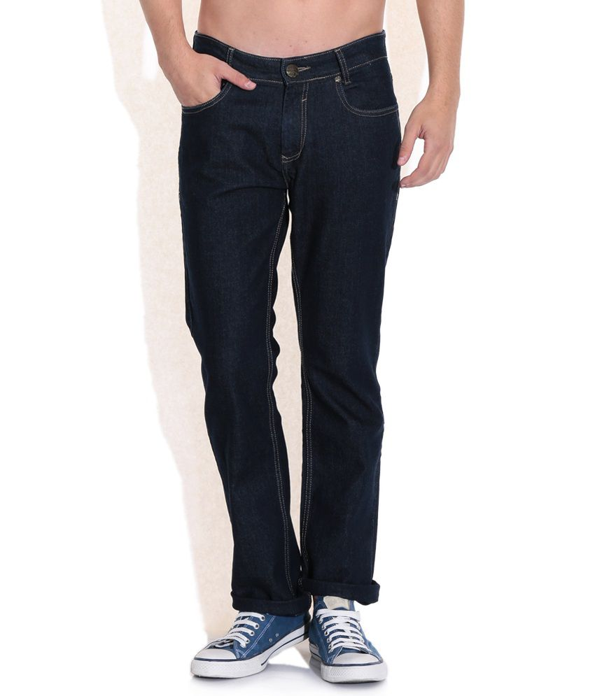 Mufti Blue Straight Fit Jeans