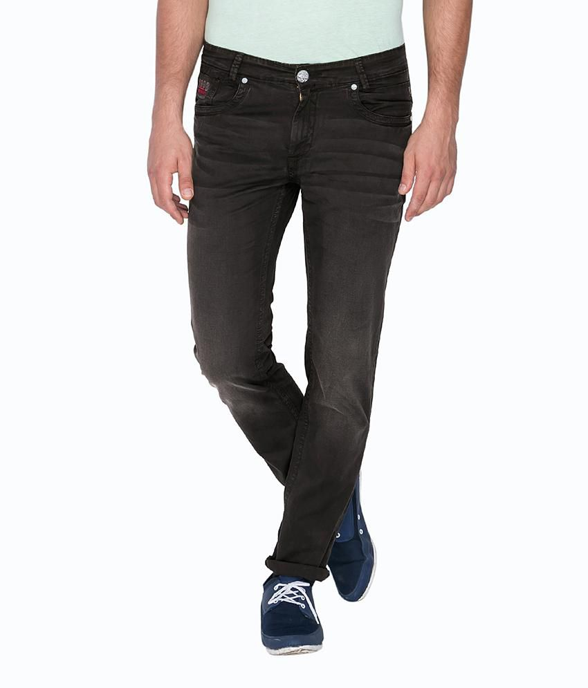 Mufti Black Regular Flat Trouser
