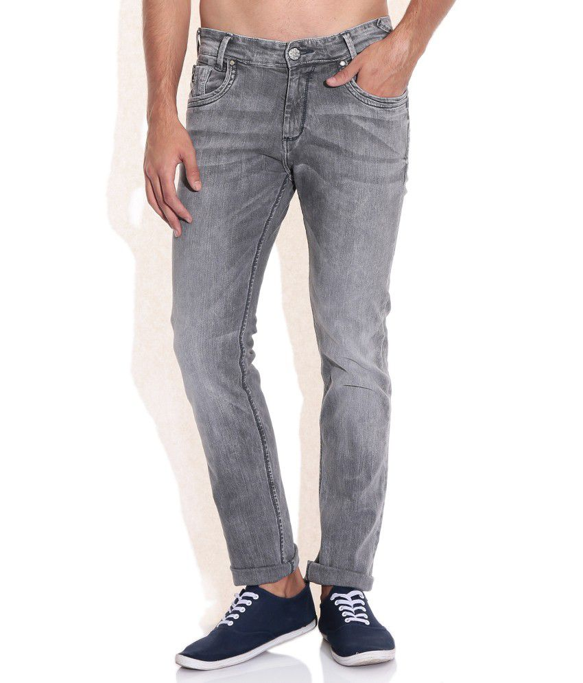 Mufti Gray Slim Fit Jeans