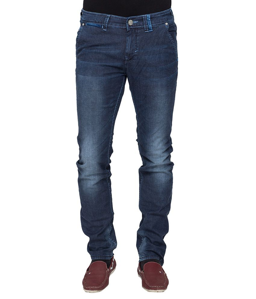 Mufti Gray Tapered Fit Jeans