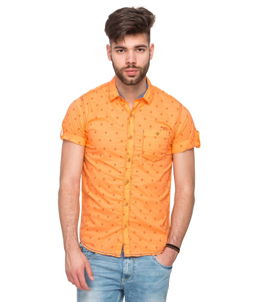 b3bff9f5 Mufti Orange Casual Shirt - Buy Mufti Orange Casual Shirt Online at Best  Prices in India on Snapdeal