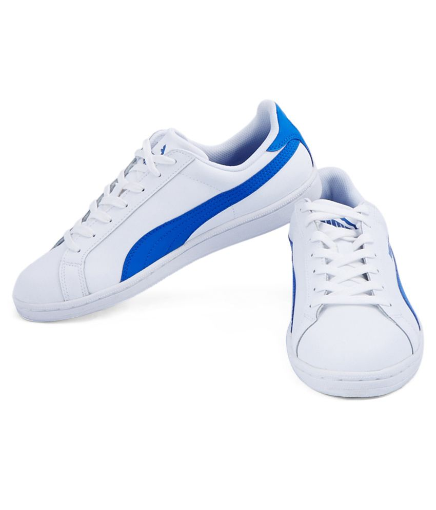 Puma Smash White and Blue Casual Shoes - Buy Puma Smash White and ... 3db981221