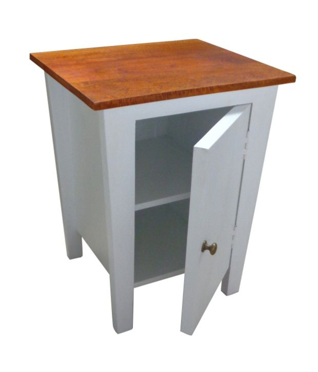Solid Wood Bed Side Table with Cabinet