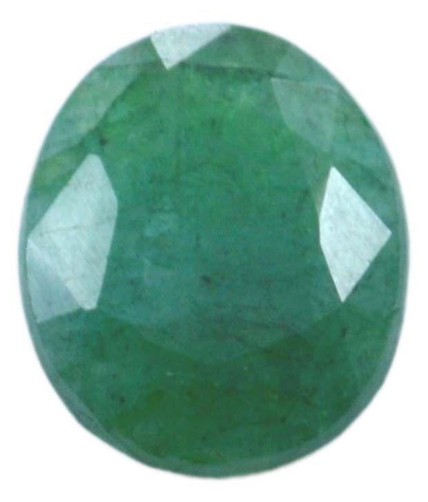 55Carat 5.75 Ratti Emerald (Panna) Solitaire Silver Ring