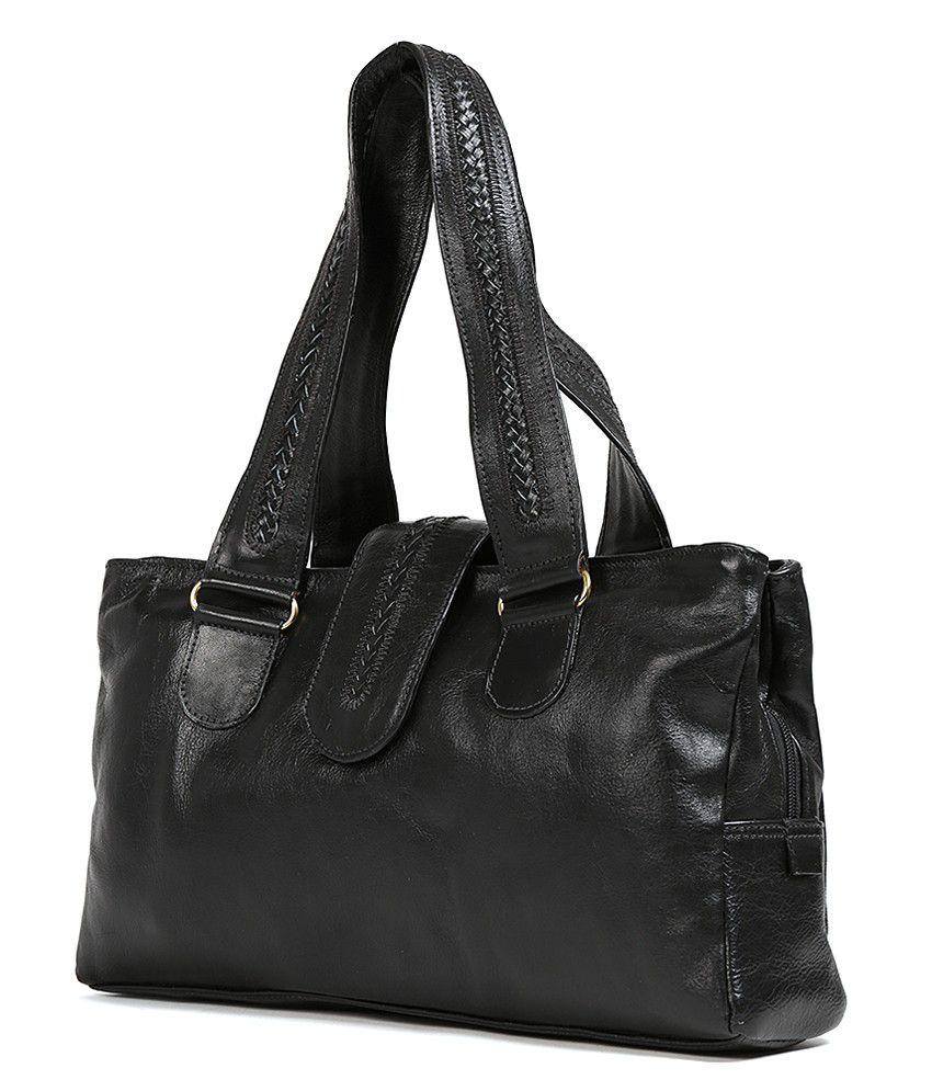 7ef2c4623429 Hidesign Nolan (1416) Black Leather Large Shoulder Bag - Buy ...
