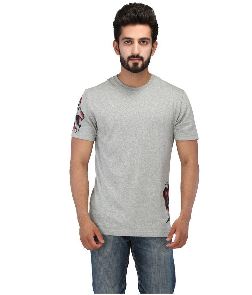 Rang Rage Gray Cotton T Shirt