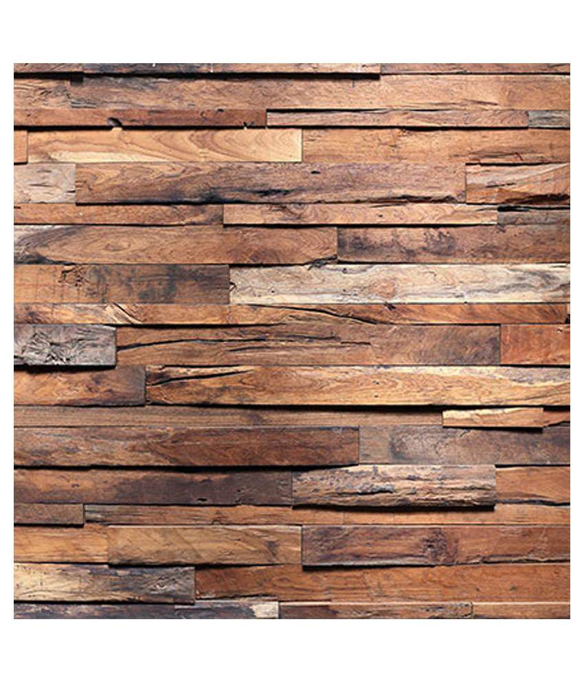 Buy wall art rough wooden planks online at low price in