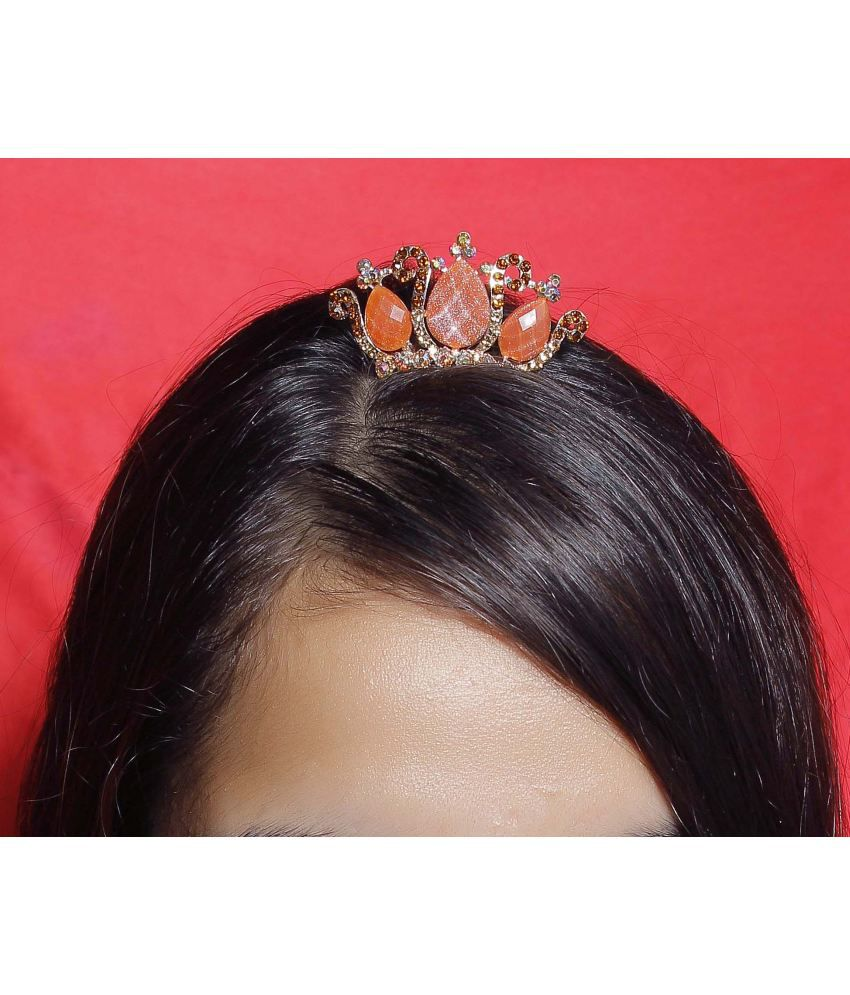 Hair accessories online snapdeal -  Much More Beautiful Fashion Daily Wear Crown Tiara Kids Women Hair Accessories