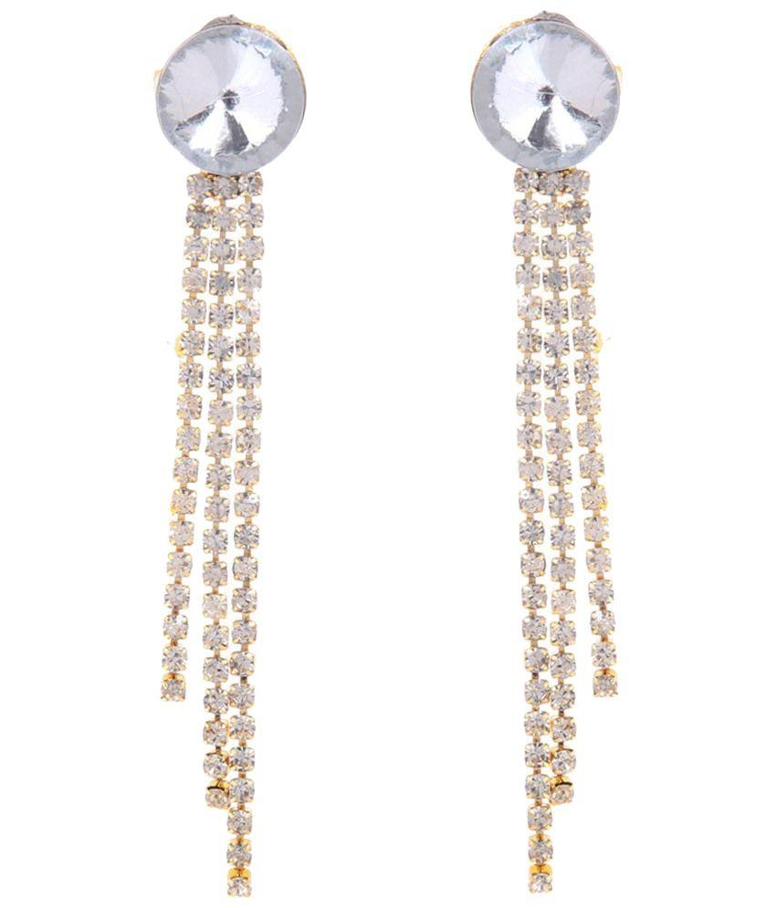 Tsquare Golden Gemstone Kangna Hanging Earrings