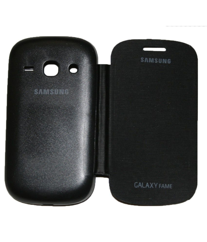 Samsung Galaxy Fame Flip Cover by Art Pack - Black