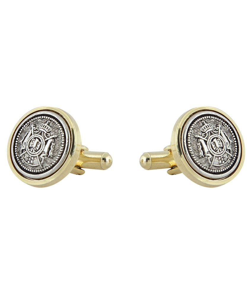 Golden Age Crystal Non Metal Formal Cufflink