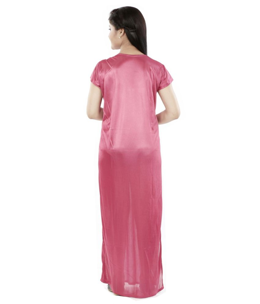 Buy Sweet Night Pink Silk Nighty Online at Best Prices in India ... c9f75f1d7