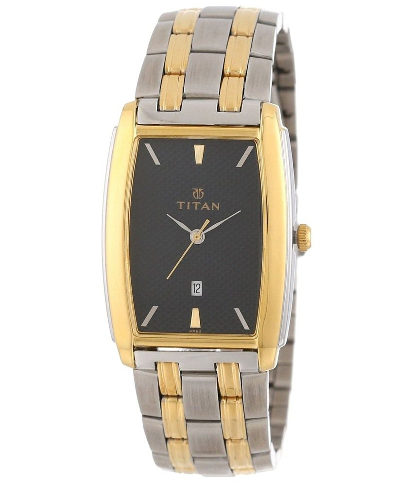 Titan Karishma Superb Black & Silver Wrist Watch for Men