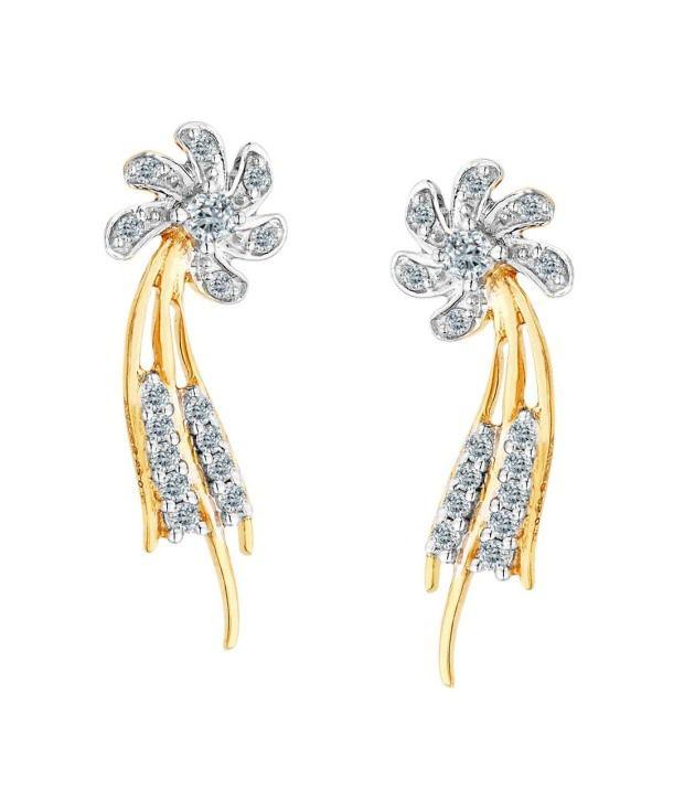 Asmi 18kt Diamond IGI Contemporary Stud Earring