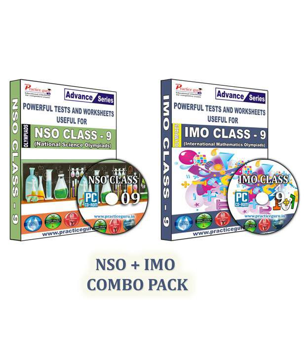 Class 9-Combo Pack (IMO/NSO) English Maths-Topic Wise-18 Tests,Previous  Year Paper,600+ Questions,,Science-50,Previous Year Paper,1450+ Questions CD
