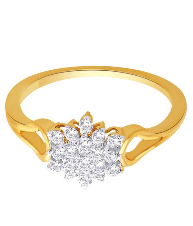 Nakshatra 18Kt IGI Floral Ring