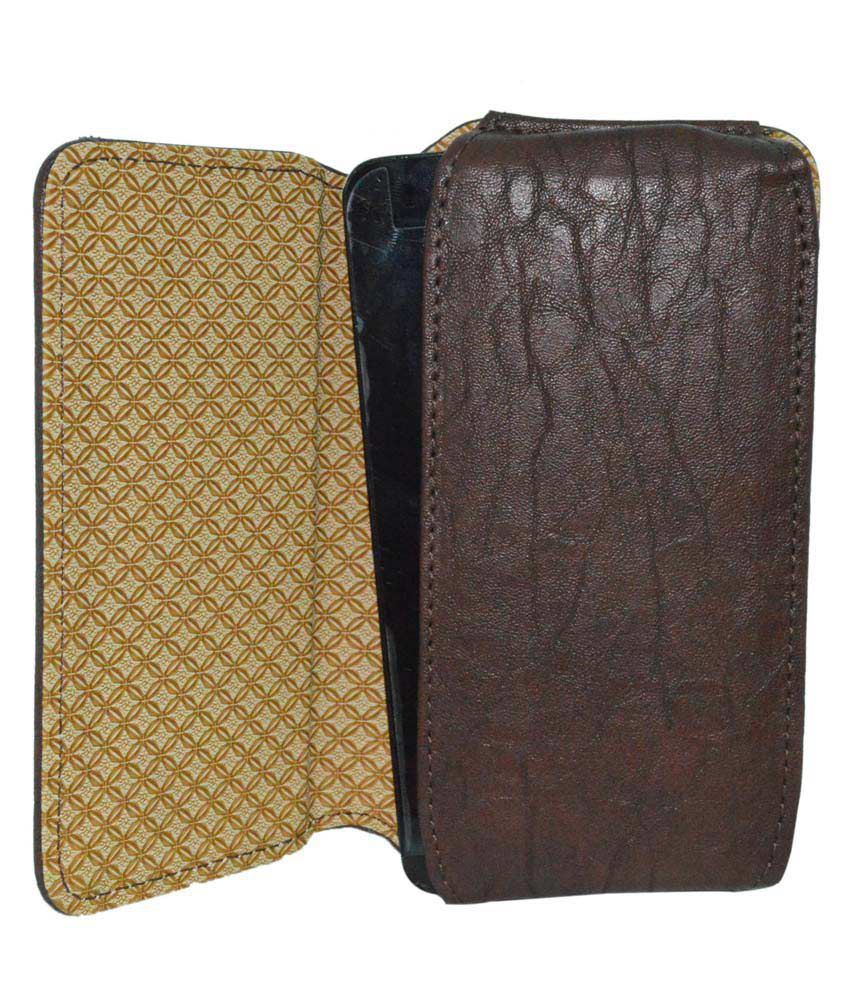 Totta Universal PU Leather Belt Pouch For Nokia X Plus - Brown