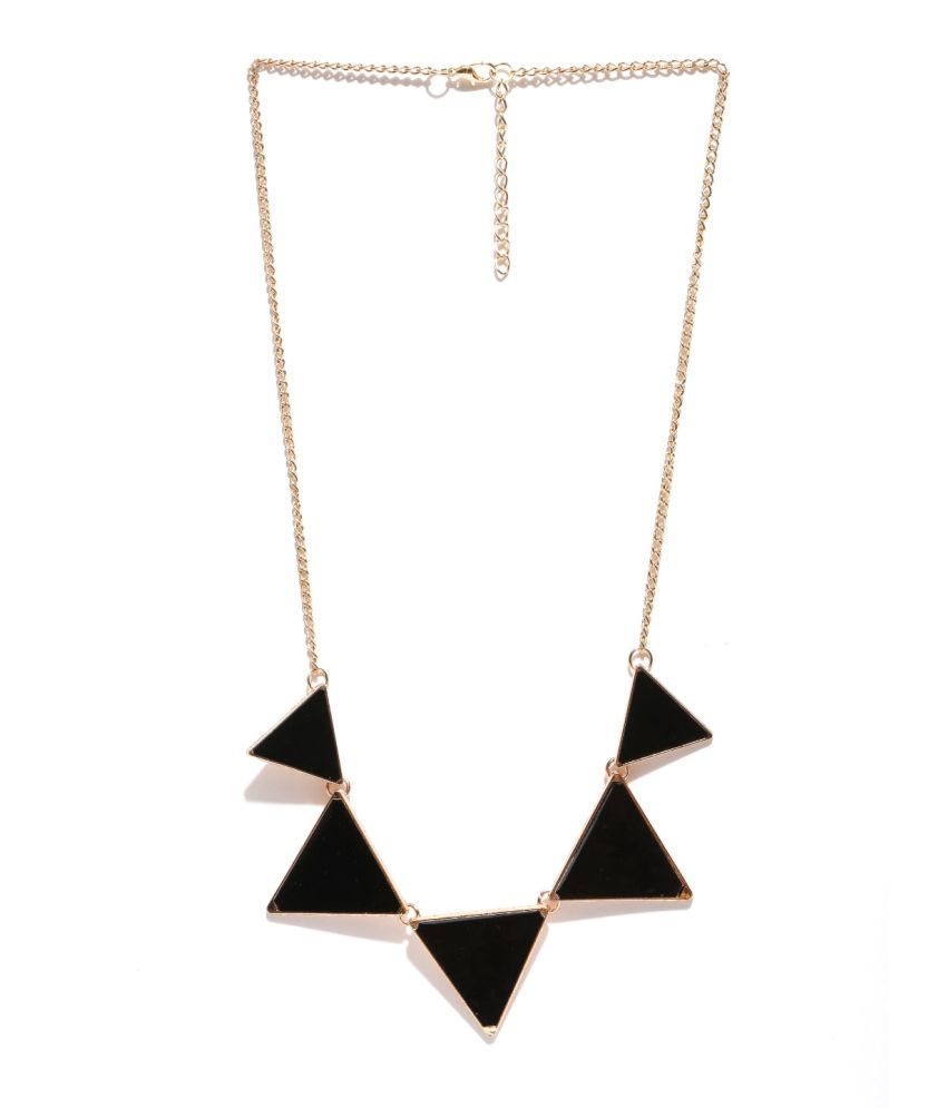 Hi Look Black Alloy Necklace