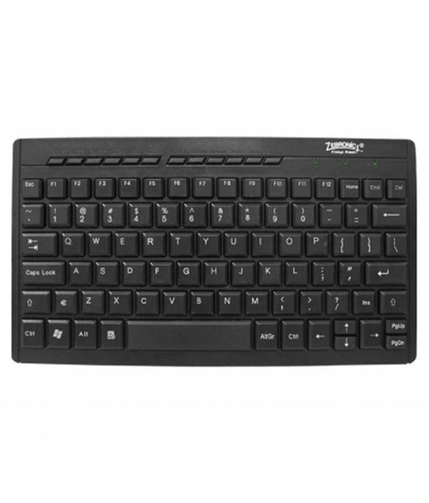 Zebronics zeb-k04 Black USB Wired Desktop Keyboard Keyboard